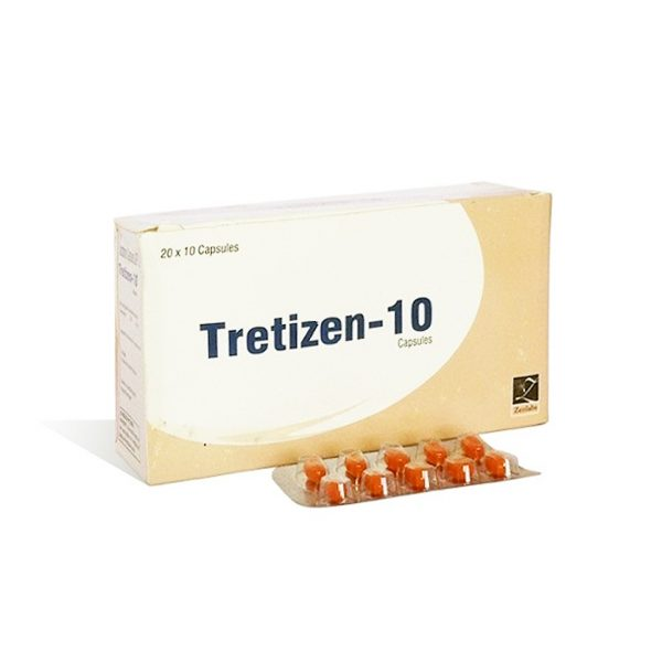 Lowest price on Isotretinoin  (Accutane). The Tretizen 10 buy USA cycle
